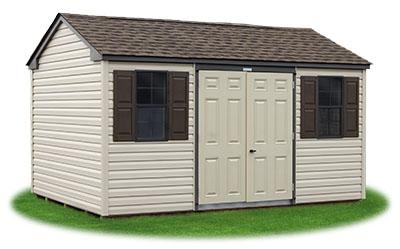 new england style peak storage shed